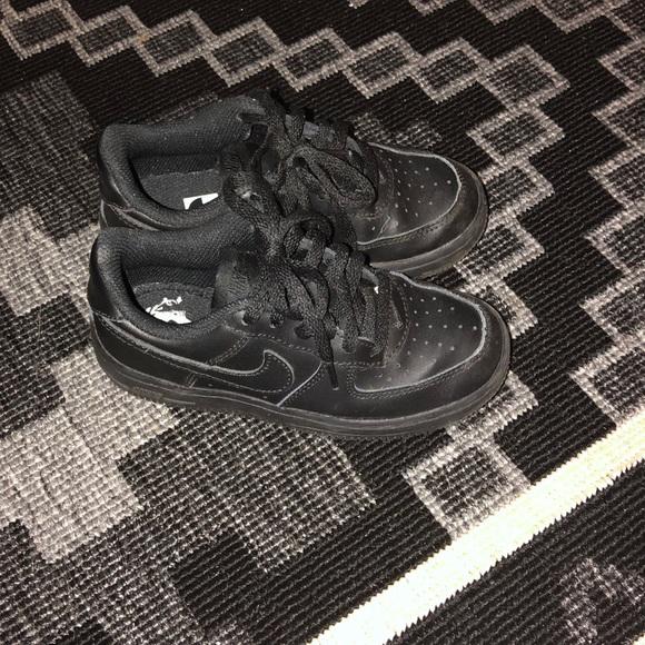 Kids Nike Air Force Ones.